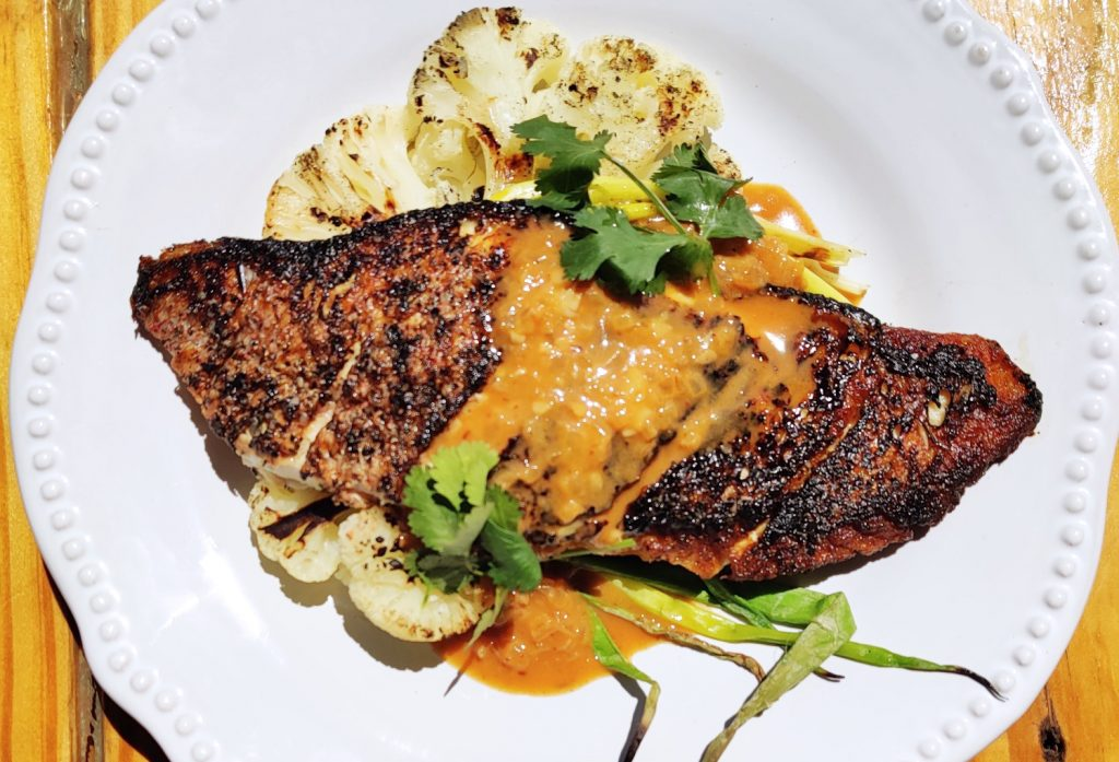 Grilled Everything Red Snapper